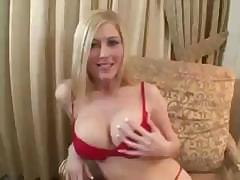 Busty Michelle Barrett sucks on his cock and fucks for facial