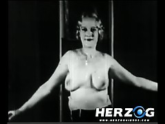 Natural Blonde Makes A Strip Show In 20s Porn Film