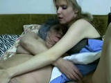 Threesome Granny and old woman