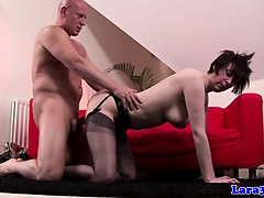 British Mature In Stockings Loves Rough Sex