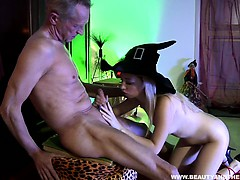Blonde Teen Gets Fucked By An Old Dude
