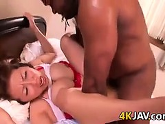 Japanese Milf With Big Tits Loves Black Cock