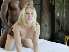 BLACKED Blonde Ash Hollywood Cheats with Her BBC Trainer