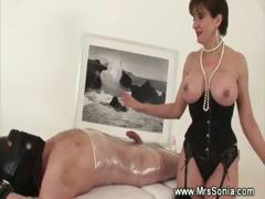 mistress-jerking-off-her-bound-slave