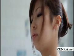 busty-japanese-harumi-asano-strips-nude-and-lathers-up