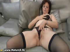Natural mature wife in sexy black part5
