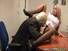 old-geezer-goes-down-on-young-slut-on-his-office-table