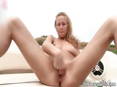 Sexy Babe Loves Masturbating Outdoor Part4