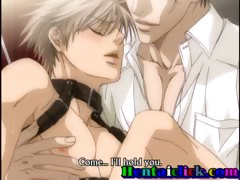 Tied up hentai gay hardcore fucked