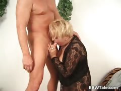 Big boobed hot horny MILF sucks part3