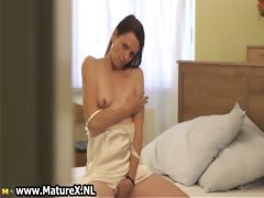 Horny brunette housewife enjoys rubbing part4