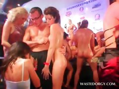 Orgy excited slut gets hardcore banged on stage