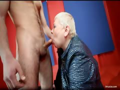 Obese MILF slut doctor Lucia blows stiff part3