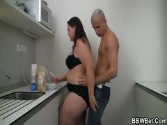 cooking-bbw-enjoys-riding-his-meat